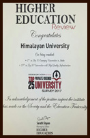 Higher Education Review Award